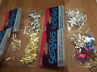 STAR SEQUINS  SNOWFLAKE SEQUINS IDEAL FOR CHRISTMAS CRAFT CHOICE OF COLOURS