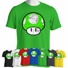 MUSHROOM KINGDOM Super Mario 1 UP inspired T Shirt | ALL SIZES | ALL COLOURS |