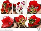 Ladies Mini Santa Elfs Hat Christmas Top Hat Xmas Fancy Dress Costume Accessory