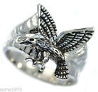 Flying Eagle Silver Rhodium EP Mens Ring New