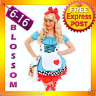 G90 Alice in Wonderland Ladies Disney Fancy Dress Up Party Halloween Costume
