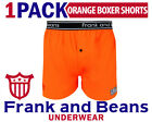 FRANK AND BEANS BOXER SHORTS MENS UNDERWEAR ALL SIZES ORANGE