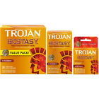 Trojan Ultra Ribbed Ecstasy UltraSmooth Lubricated Condoms - Choose Quantity
