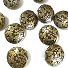 Brass Wave 20mm Metal Buttons Sewing Collectable Craft MB001