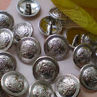 Silver Royal Insignia 20mm  Metal Buttons Sewing Collectable Craft MB015