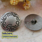 Vintage Silver Grass 22mm Alloy Metal Buttons Sewing Collectable Craft MB022