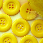 Yellow 4 Holes Plastic Buttons Sewing Cardmaking Scrapbooking 17mm,27mm,33mm