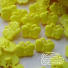 Yellow Butterfly 17mm Plastic Buttons Sewing Scrapbooking Collectable Craft BFB
