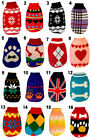 Small dog puppy pet cat knitted soft polo-neck sweater clothes coat jacket