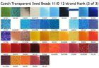 Czech 11/0 Transparent Seed Beads 12-strand Hank 3
