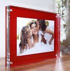 "CHESHIRE ACRYLIC desk block 20mm MAGNETIC 8x6"" PHOTO PICTURE FRAME for a 6x4"""