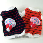 Dog&Cat Clothes Shirts with Candy Brooch_A321