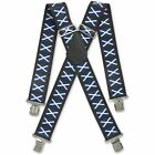 MENS NOVELTY WORK TROUSER BRACES METAL CLIPS WIDE 11 PATTERNS TO CHOOSE FROM