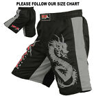 MMA Shorts Grappling Shorts UFC Fighter Kick Boxing Mix Fight Black Grey