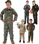 Kids Military Camouflage BDU Shirt Childrens Fatigues Uniform Top