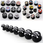 New Assorted Punk Black Acrylic Screw Ear Flesh Tunnel Plug Expander Stretcher