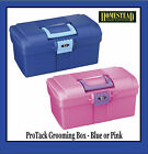 PROTACK HORSE PONY GROOMING BOX - BLUE OR PINK