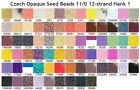 Czech 11/0 Opaque Seed Beads 12-strand Hank 1