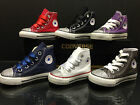 Infants Girls Converse All Star Customised Crystal/Diamante Size Infant UK 2-10