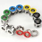 6 Colors Enamel Stainless Steel Flare Ear Plug Expander Stretcher Flesh Tunnel