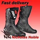 SIDI FUSION CE APPROVED SPORTS RACE MOTORBIKE MOTORCYCLE BOOTS BLACK