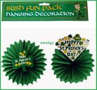ST PATRICKS DAY DECORATIONS Irish Green Shamrock Paper Party Hanging decoration