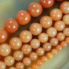 "Natural OrangeYellow Aventurine Round Beads 15.5"" Pick Size 6,8,10,12,14mm"
