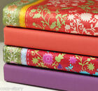By The Yard 100% Cotton Fabric Orange Purple Solid Floral Pattern Sewing R m-160