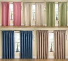 NEW PLAIN STRIPE TRANQUILITY NEXT SEMI BLACKOUT THERMAL BACKED CURTAINS TAPE TOP