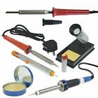 30w Soldering Iron Kit Set Desoldering Pump Solder Stand Paste Flux 80w 120w