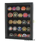 Challenge Coin Display Case Wall Shadow Box Cabinet, with LOCK, Coin30