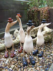 Fair Trade Hand Carved Wooden Bamboo Root Duck With Shoes Boots and Hat Statue
