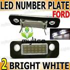 Ford Fiesta Focus Mondeo Fusion Reg Number Plate Light Lamp Xenon White LED Unit
