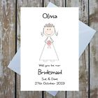 WILL YOU BE OUR BRIDESMAID FLOWER GIRL MAID OF HONOUR PERSONALISED CARD ?