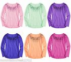 JUSTICE for Girls ~ Sequin Embellished High Low Top ~ U Pick Color & Size ~ NEW