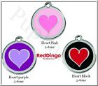 Red Dingo - Heart 2-tone - Engraved Dog ID Tag - Choose Your Size and Color