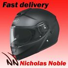 SHOEI NEOTEC FLIP FRONT WITH SUNVISOR MOTORBIKE MOTORCYCLE HELMET MATT BLACK