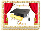 GRADUATION CEREMONY Red curtains Edible image cake topper Decoration