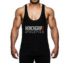 Mens Black Stringer Bodybuilding Gym Vest Muscle Low Scoop Deep Neck
