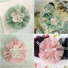 NWT All AGE Baby Girl Flower Tulle Corsage Lace Ribbon Easter Barrette Hair Pin