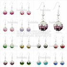 Shining Disco Ball Beads Crystal Rhinestones Earring Gradient Color Wholesale