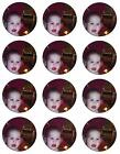 12 X 5.5cm ROUND PERSONALISED EDIBLE WAFER  PAPER CUPCAKE FAIRY CAKE BUN TOPPERS