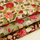Beautiful Rose Blossoms 100% Cotton Fabric Quilting Craft 48x48cm