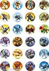 24x PRECUT SKYLANDER GIANTS/ZOOK/JET VAC/HOT DOG  RICE PAPER CUP CAKE TOPPERS