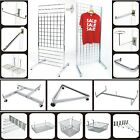 GRIDWALL PANEL GRID MESH HOOKS PRONGS CHROME ACCESSORIES  SHOP DISPLAY STAND