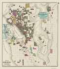 SEATTLE/ENVIRONS WASHINGTON/WA LANDOWNER MAP 1890