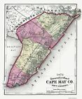 Old County Maps - CAPE MAY COUNTY NEW JERSEY (NJ) MAP 1872