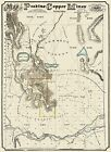 Old Mine - PEAVINE COPPER MINES NEVADA MAP - W. HOLT 1867