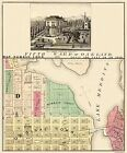Old City Map - Oakland California Fifth Ward - 1878 - 23 x 27.81