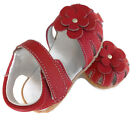 Real Leather girls Sahara red sandals baby toddler kids child walker shoes 1-4yr